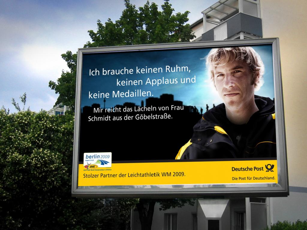 Print-Anzeige / Deutsche Post / Leichtathletik WM