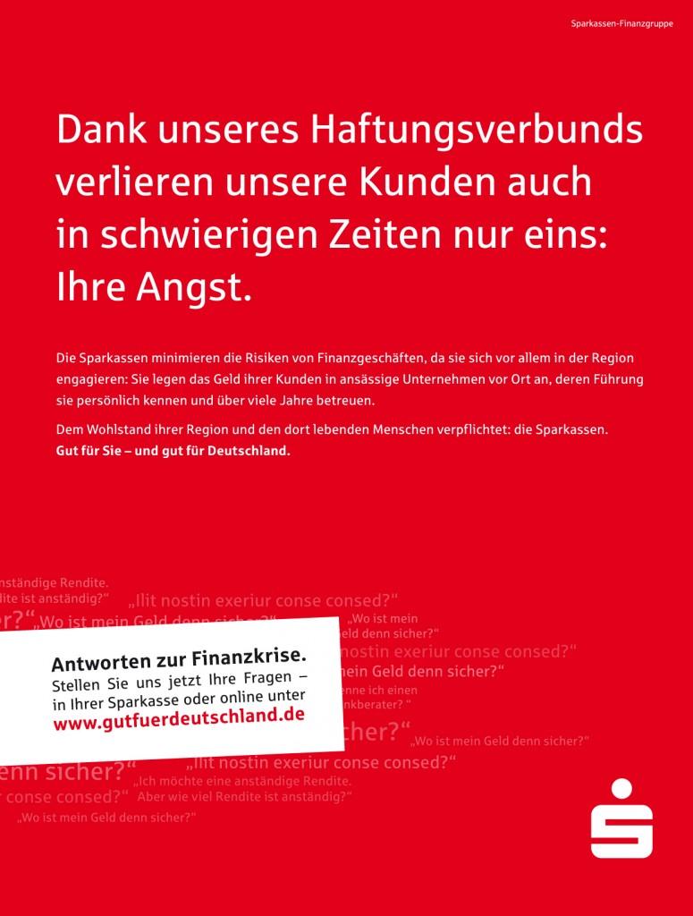Printanzeigen / Sparkasse – Gut für Deutschland