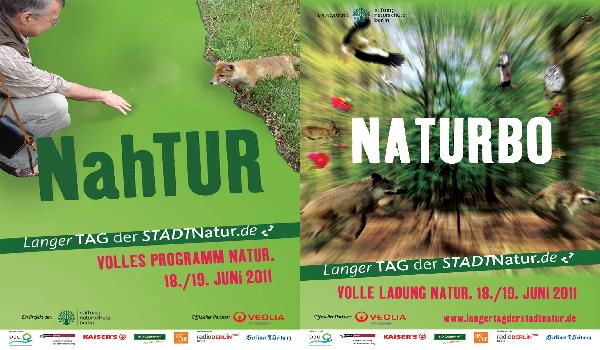 Printanzeige / Poster / Plakat / Langer Tag der Stadtnatur / Stiftung Naturschutz Berlin