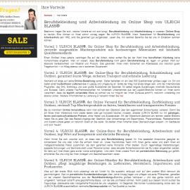 SEO Text / Web Content – Ulrich Blass – Vorteile