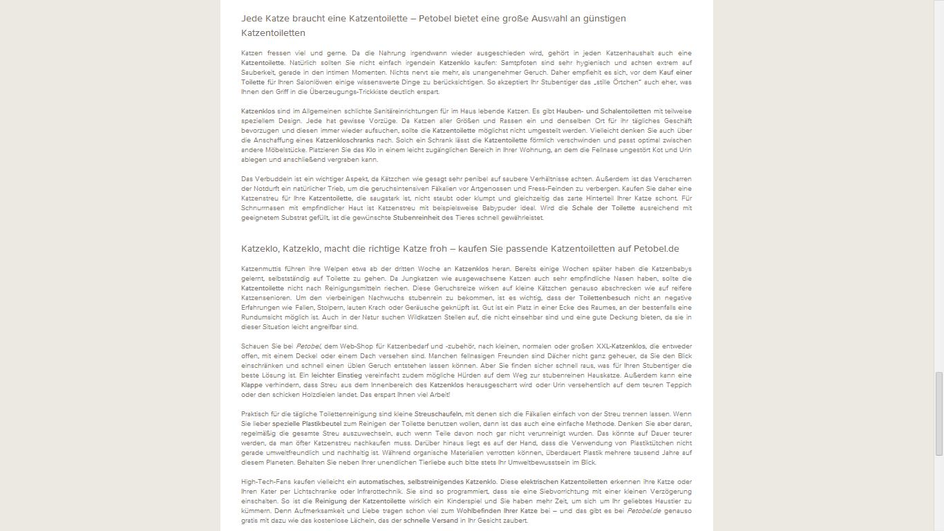 SEO Text / Web Content